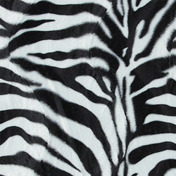 Fake fur black/white zebra 2mm