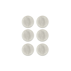 Shank button 15mm light grey 6 pcs