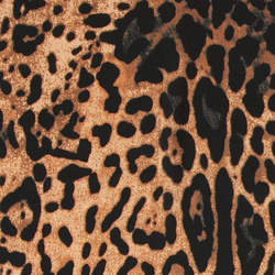 Woven crepe light brown w animal print