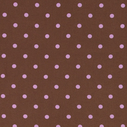 Woven viscose brown w light purple dot