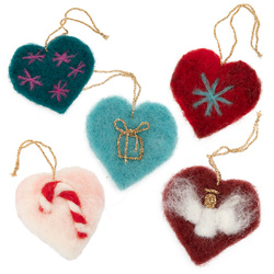 NEEDLE - FELTED HEARTS