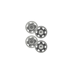 Snapfasteners sew-on 17mm silver 2 pcs