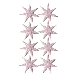 Deco star 30x30mm rose 8pcs