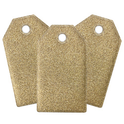 Deco manilla tag 80x45mm gold/nature 3pc