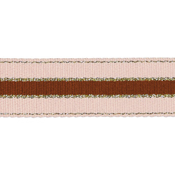 Ribbon woven 38mm rose/brown/gold 2m