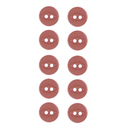 Button 2-holes 13mm dark rouge 10pcs