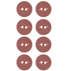 Button 2-holes 18mm dark rouge 8pcs