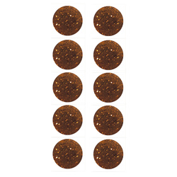 Shank button 11mm caramel w/glitter 10pc