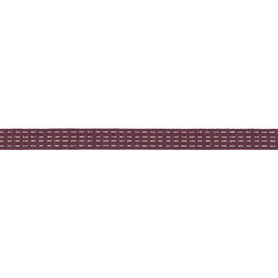 Ribbon woven 10mm plum/gold lurex 3m