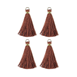 Pendant tassels 4,5cm brown 4pcs