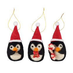 Kit felt penquins christmas 12cm 3pcs