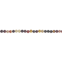 Beads 4mm mokait jasper multi appr 90pc