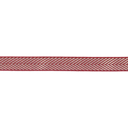 Ribbon woven 15mm white/rouge 3m