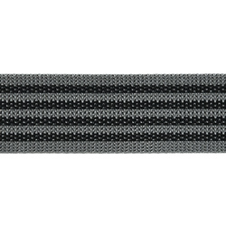 Webbing ribbon nylon 38mm grey/black 5m