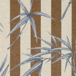 Jacquard stripes with blue leaves