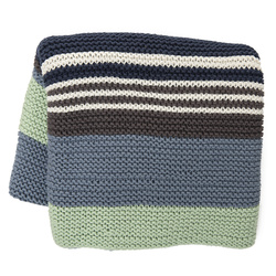 Striped knitted blanket