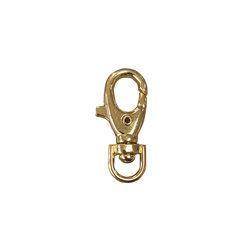 Snap hook 38mm gold 1 pcs