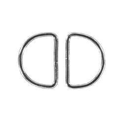 D-ring W38xH25xD3mm silver 2 pcs