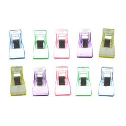 Wonder clips 35x18mm 5 colors 10 pcs