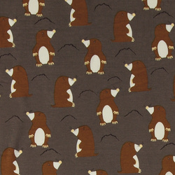 Stretch jersey brown with moles