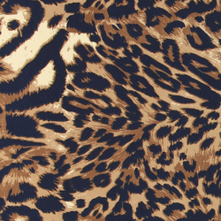Stretch crepe jersey with animal print