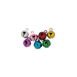 Bells dia 10mm mix colors 50pcs