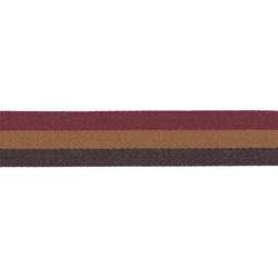 Ribbon 24mm bordeaux/black/camel 2,2m