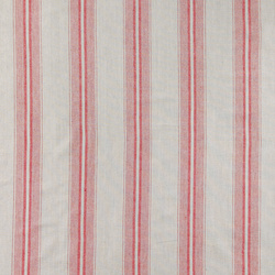 Yarndyed light grey w red stripes