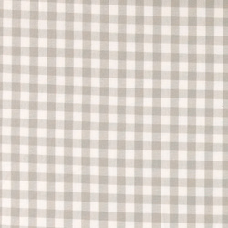 Cotton yarn dyed light grey check