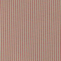Yarn dyed red/sand narrow stripe