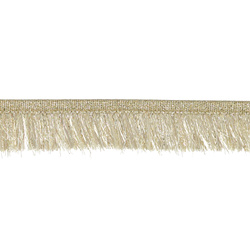 Ribbon fringe 25mm gold lurex 3m
