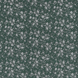 Woven viscose green with flowers