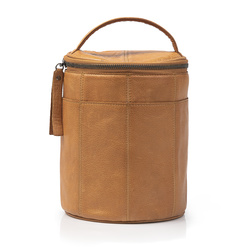 FRAYA bag Ø:16xH:21cm leather brown