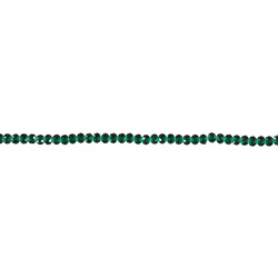 Beads glass 6x7mm dark green 72pcs