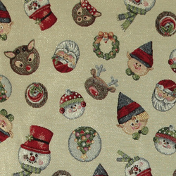 Gobelin gold lurex w christmas pattern