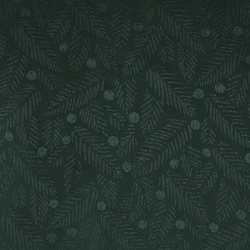 Jacquard dark green w spruce and berries
