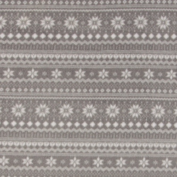 Polar fleece grey with knit pattern