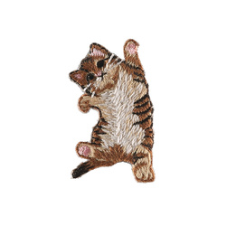 Patch cat 54x44mm brown 1pc