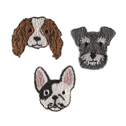 Patch dogs 28-32mm 3pcs
