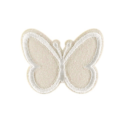 Patch butterfly 48x38mm offwhite 1pc