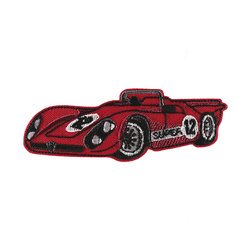 Patch racing car 87x30mm red 1pc