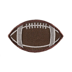 Symerke football 60x35mm brun 1 stk