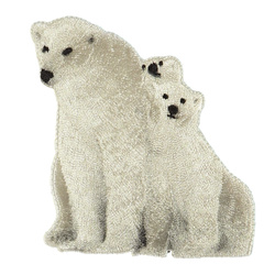 Patch polar bear 90x90mm nature 1 pc