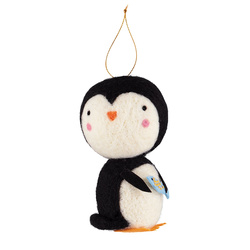 Kit wool penquin 12cm black/white 1pc