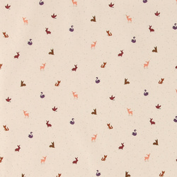 Organic cotton nature w dots and animals