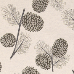 Jacquard nature with golden pinecones