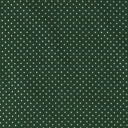 Cotton dark bottle green with gold dots