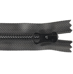 YKK zip 6mm closed end grey/black