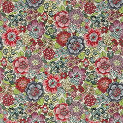 Jacquard yarn dyed nature with flowers