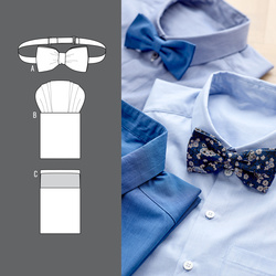 Bow tie and breast pocket handkerchief